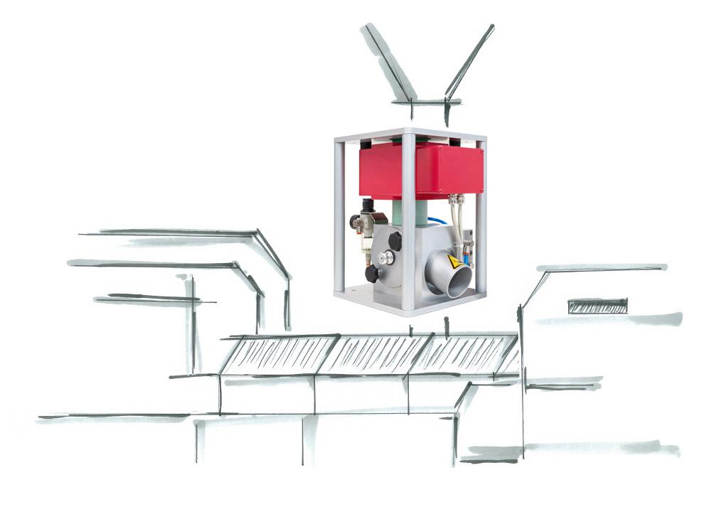Metallseparation am Maschineneinzug mit dem PLASTRON 05 K